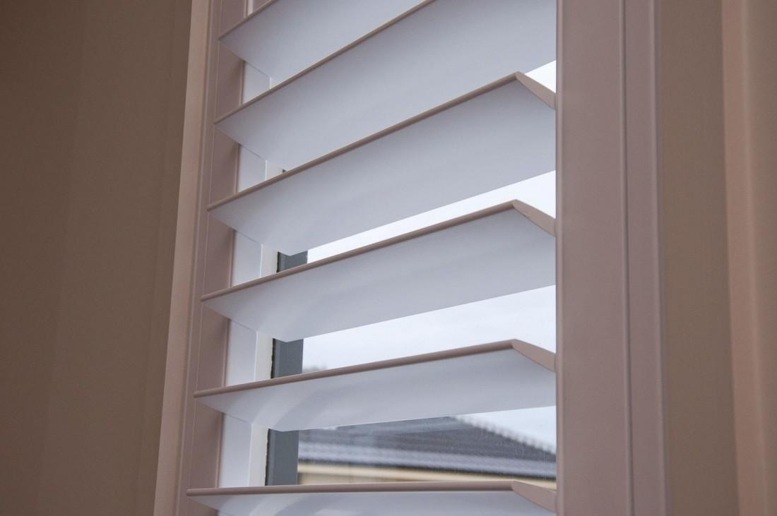 Window Louvers of a Plantation Shutter - Close Up