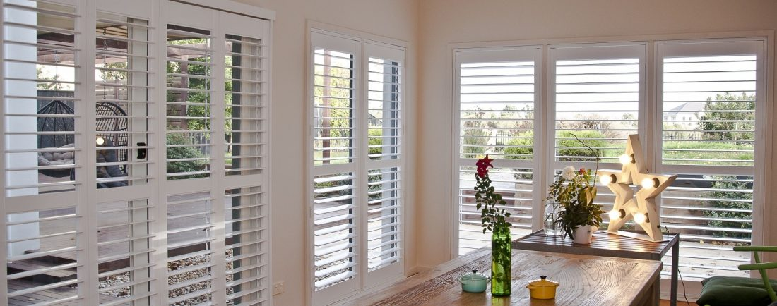 Plantation Shutters installed in Dining Area for Maximum Light